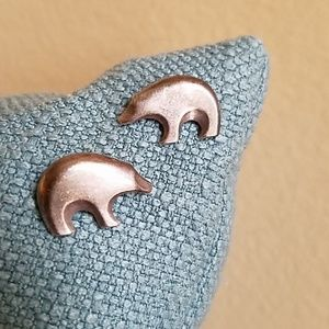 VINTAGE SILVER BEAR Earrings, Simply Stated Lovely